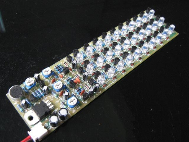 DIY Kits Voice Control Indicator Level 3 Sections 10 Point Indicating LED Red/Blue/Green Electronic Production Kit