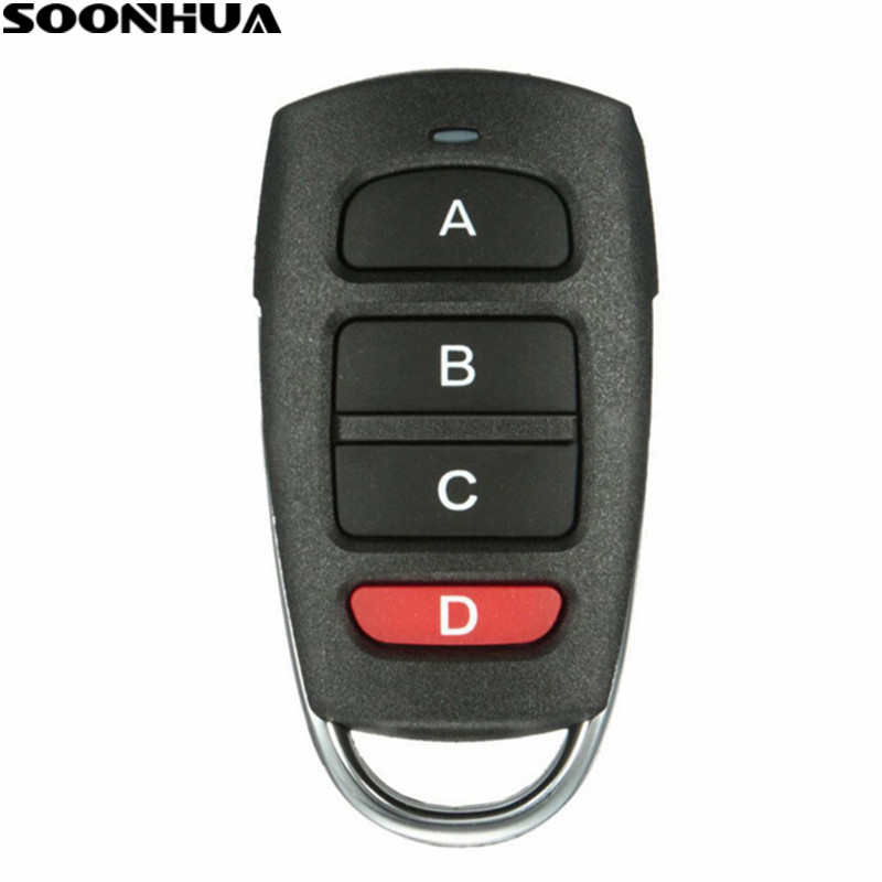 SOONHUA Universal Wireless Remote Control 4 Buttons Copy Cloning Electric Garage Door Security Alarm Controller Keys For Car Key