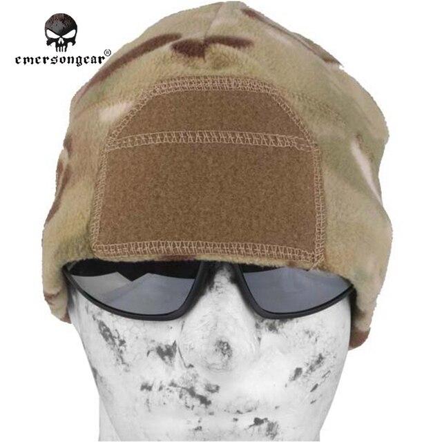Emerson флисовые часы кепки теплые растягивающиеся боевой шестерни тактический аксессуар головные уборы EM8542 мультикам черный Листва Зеленый