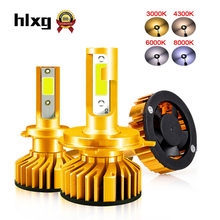 HLXG Car Headlight Kit H7 LED Bulb 4300K 6000K 8000K H1 H3 H11 9005 HB3 9006 HB4 LED 12V 80W 12000LM mini canbus Headlamp Light(China)