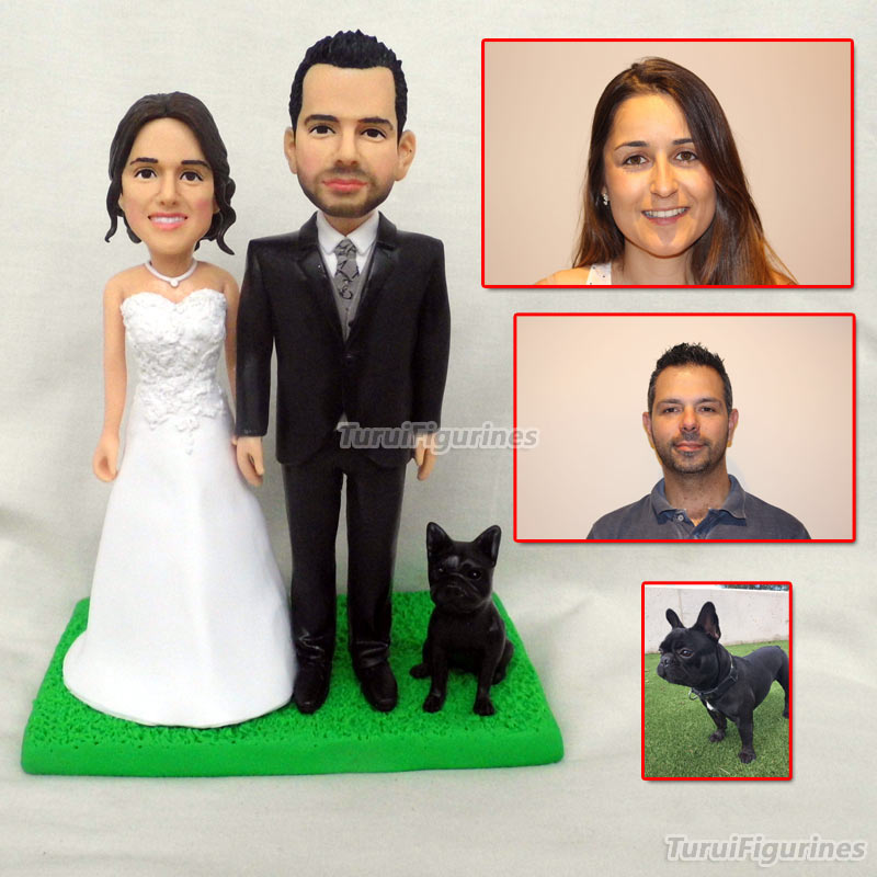 На Заказ Свадебный торт Топпер с собакой человек лицо фигурка голова лепить ручной работы миниатюрная Кукла человеческого лица bobblehead мини