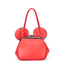 Reiwalker New 2016 PU Leather Women Handbag Casual Lady Mickey Ears Cute Tote Bags For Female Chain Messenger Bags AS-MK1