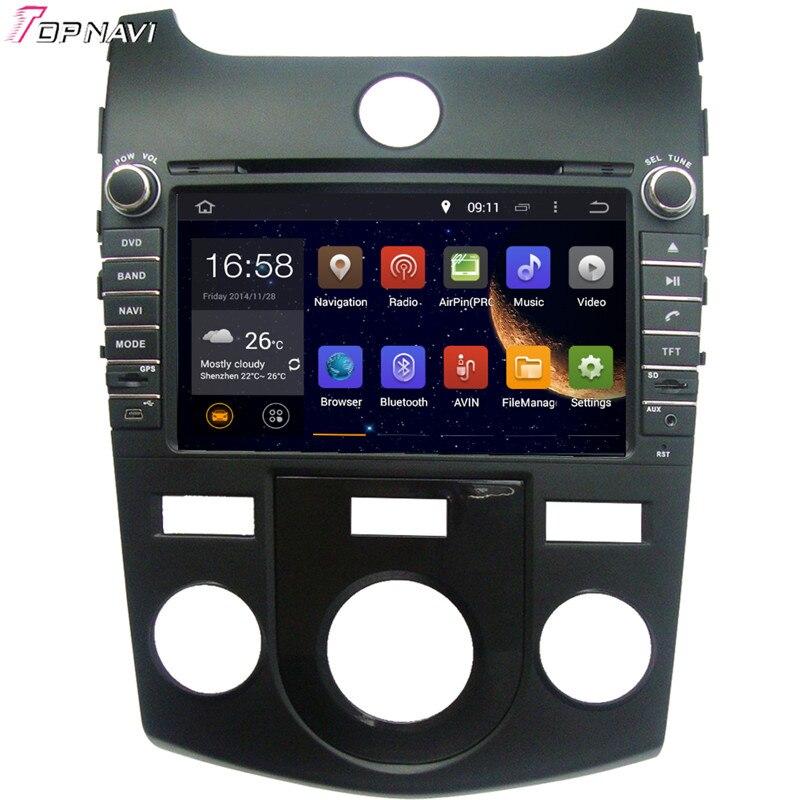 TOPNAVI 8 Quad Core Android 5 1 Car DVD Play for KIA CERATO Manual Air Conditioner