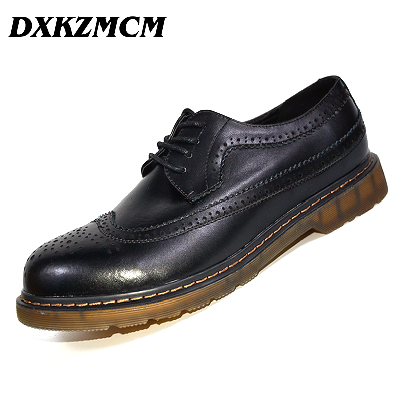 2017 Genuine Leather Handmade Shoes Men Vintage Carved Lace-up oxfords shoes for Men Dress shoes new original nbb5 f33 e2 warranty for two year