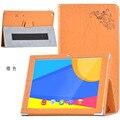 Para Teclast caso X10 3G cópia Colorida de 10.1 polegada Tablet Caso Print Floral caso Capa de Couro para teclast X10 3G estande de proteção