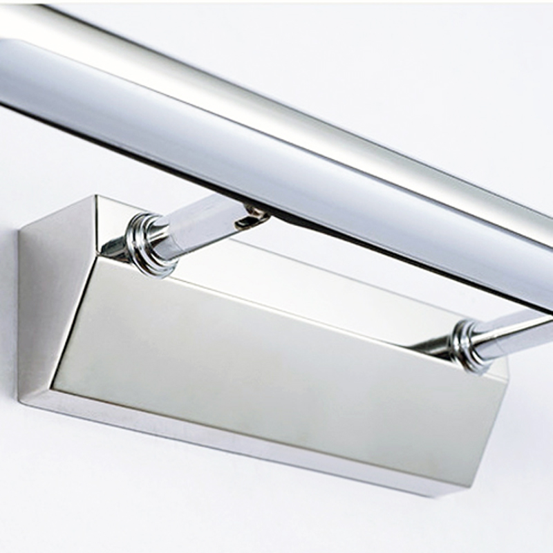Free Shipping AC110V/220V 40CM Bathroom Mirror Light 7W LED Wall Lights Stainless Steel Wall Lamp With Antifoging Ability-in LED Indoor Wall Lamps from Lights & Lighting    3