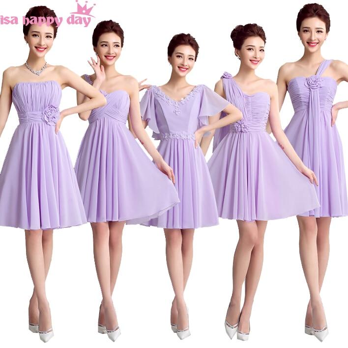 Excepcional Vestidos De Dama Baratos Púrpura Colección de Imágenes ...
