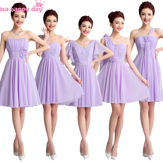 Land stil lila lila billig lavendel v ausschnitt chiffon ...