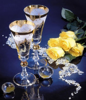Needlework,for embroidery,DIY DMC The cup and the Yellow Rose 14CT Cross stitch kits,Art Pattern counted Cross-Stitching decor