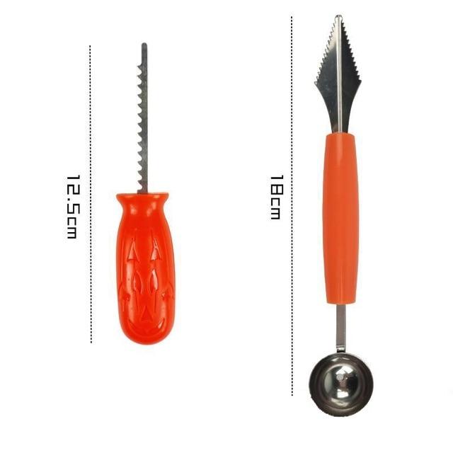 Halloween pumpkin lamp carving knife true pumpkin carving tool set