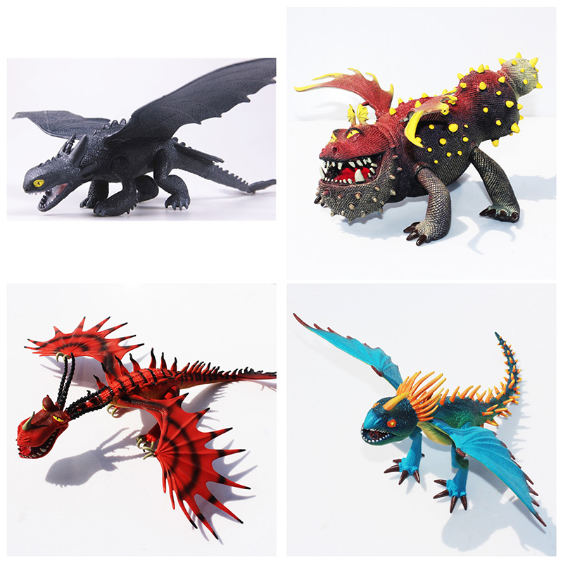 How To Train Your Dragon Deadly Nadder Hageffen Gronckle Doll Anime PVC Childs Toys Toothless Night Action Figure Toy ...