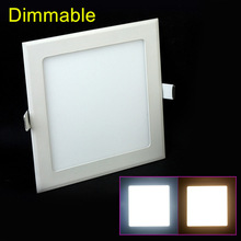 цена на LED Downlight Dimmable 4W 6W 9W 12W 15W 25W Square Ultrathin SMD 2835 Power Driver Ceiling Panel Lights Cool/Warm White