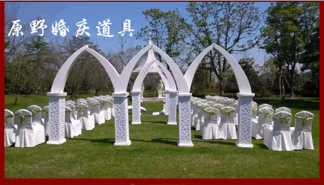 8pcs wedding arch pillars with lights wedding centerpiece flower 8pcs wedding arch pillars with lights wedding centerpiece flower vase wedding road ledwedding junglespirit Choice Image