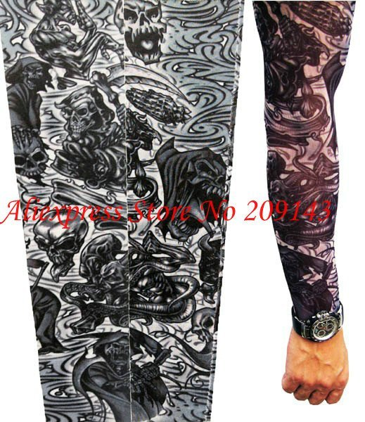 0bf02d206 Free Shipping,Punk Gothic Rock Grim Reaper Tattoo Sleeve Arm  Stockings,Temporaty Tattoo,Wholesale,1 Lot/50 Pieces