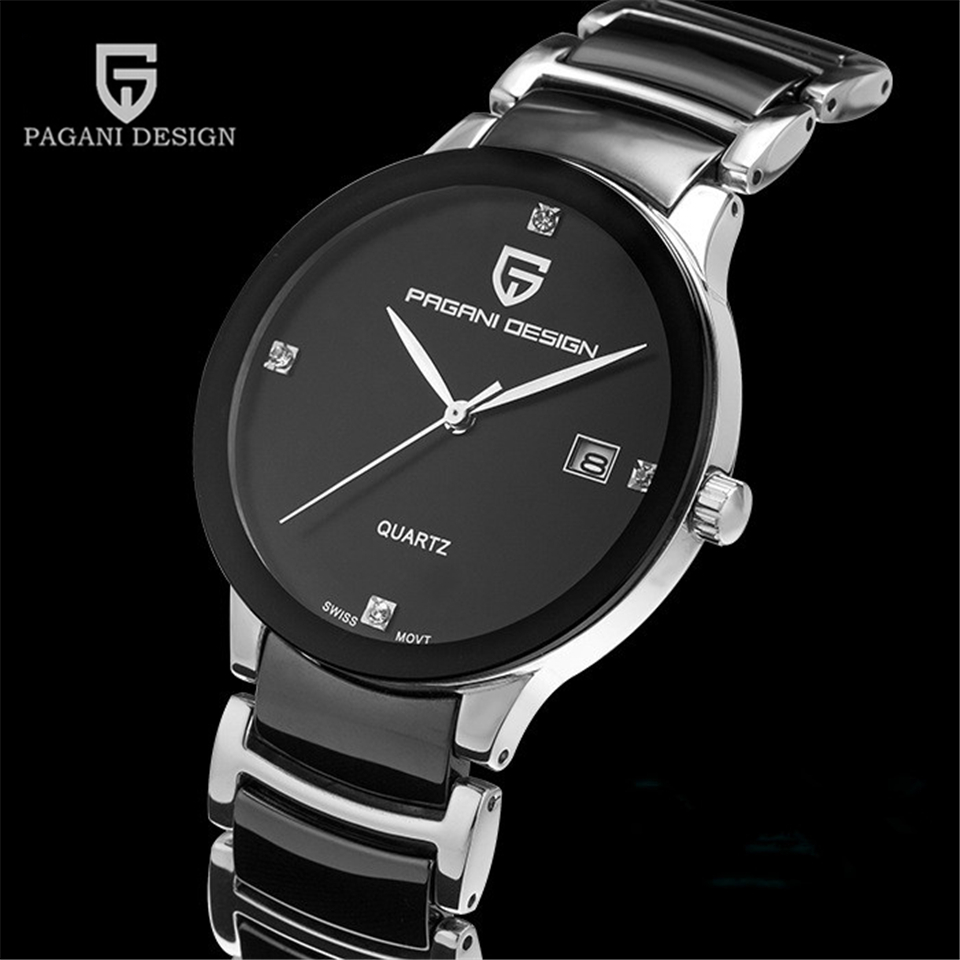 PAGANI DESIGN Mens Watches Top Brand Luxury Tungsten Steel Business Quartz Wrist Watch Calendar Clock Men Saat Relogio Masculino migeer relogio masculino luxury business wrist watches men top brand roman numerals stainless steel quartz watch mens clock zer