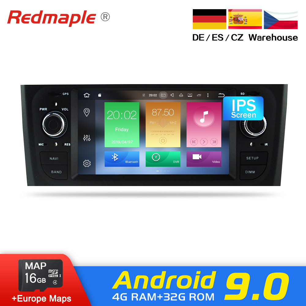 IPS Tela Android 9.0 Car Radio Navegação GPS Estéreo Multimídia Para Fiat Grande Punto Linea 2006-2012 DVD WI-FI bluetooth