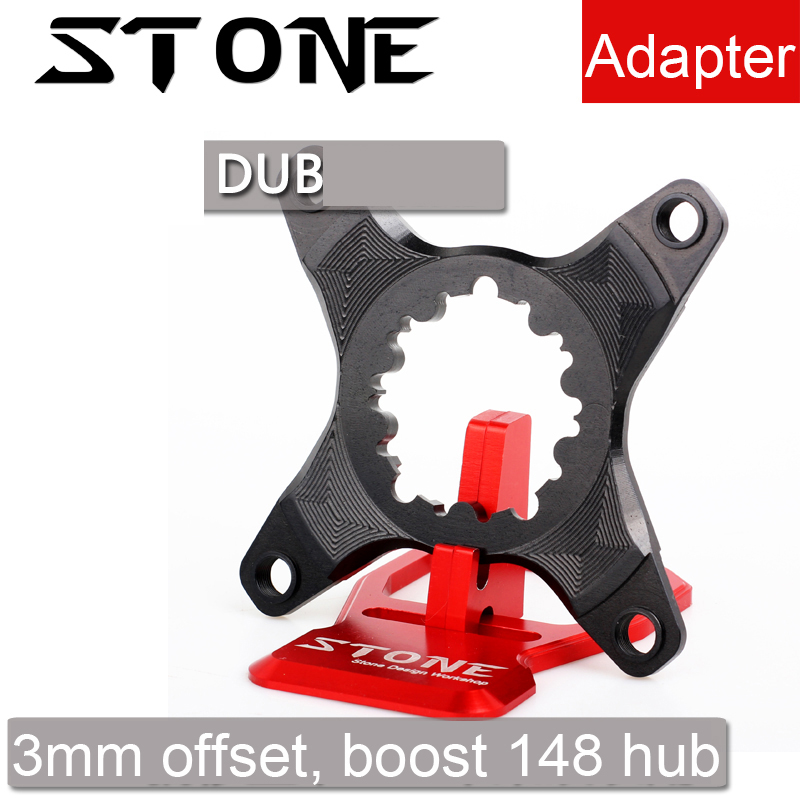 Stone chainring adapter spider converter 3mm offset for Sram GXP DUB to 104 BCD X9 XX1 X0 X01 104bcd narrow and wide tooth Stone chainring adapter spider converter 3mm offset for Sram GXP DUB to 104 BCD X9 XX1 X0 X01 104bcd narrow and wide tooth