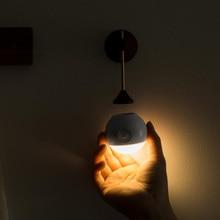 Youpin ensoleillé capteur intelligent veilleuse infrarouge Induction USB charge amovible lampe de nuit pour maison intelligente