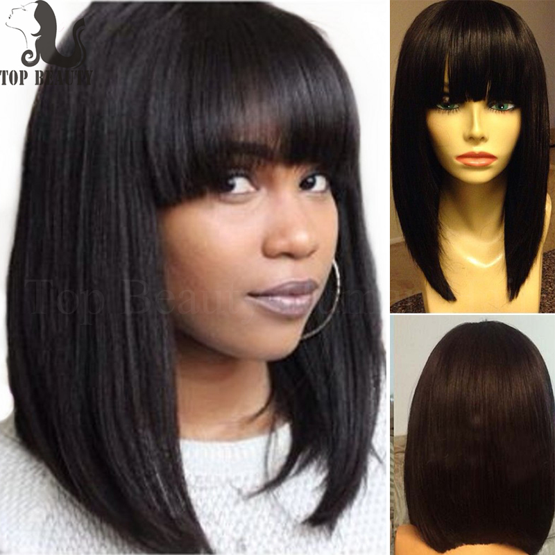 8A Remy Hair Light Yaki Full Lace Wig Glueless Lace Front