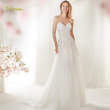 Loverxu Wedding Dress Sleeveless Bride Dress Court Train
