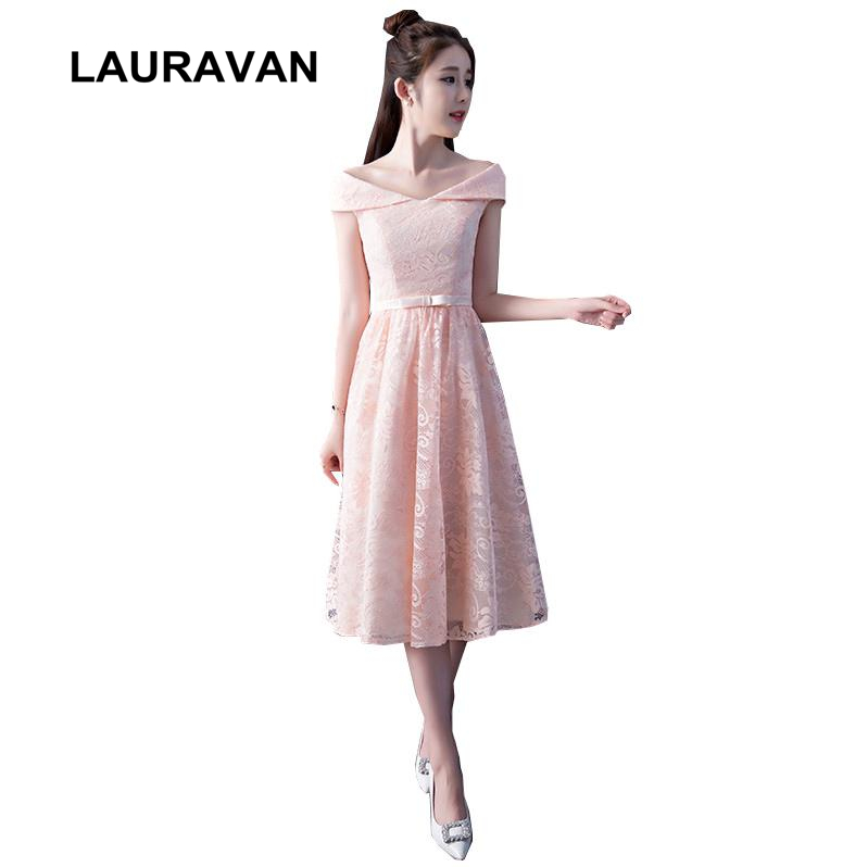 pink elegant clothing girl lace beautiful classic tea length   dress   short   bridesmaid     dresses   ball gown under 50 for weddings