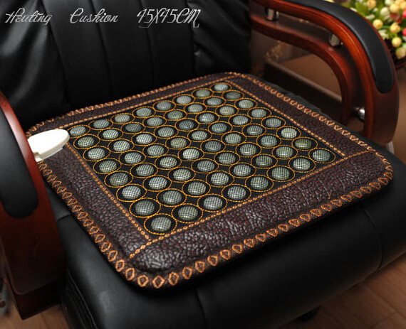 Free shipping Natural jade heat and massage sofa cushion jade cushion heated cushion healthy cushion 45*45CM цены онлайн