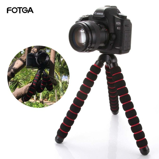 "FOTGA Large Octopus Spider Flexible Tripod Stand 1/4"" 3/8"" Screw Mount for Canon Nikon DSLR Camera DV"
