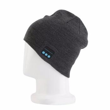 Smart Wireless Bluetooth Music Warm Knitted Beanie Hat Headphones Cap