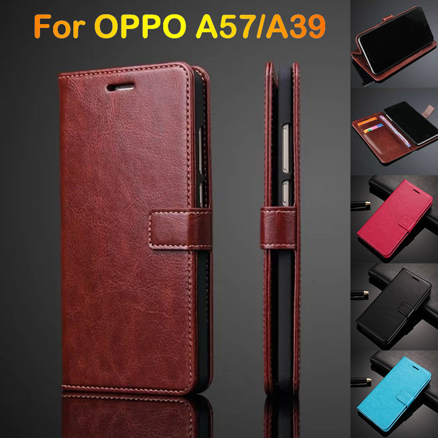 the best attitude 321a2 221cc US $4.59 8% OFF|Leather Case For OPPO A57/ A39 5.2 Cover Luxury Ultra Thin  Card Holder Phone Pouch Flip Cover Case For OPPO A57 Fundas Holster-in Flip  ...