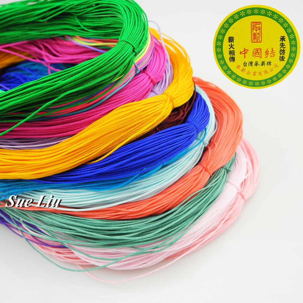 0.5mm Nylon Cord Thread Chinese Knot Macrame Cord Bracelet Braided String DIY Tassels Beading String Thread - 30M