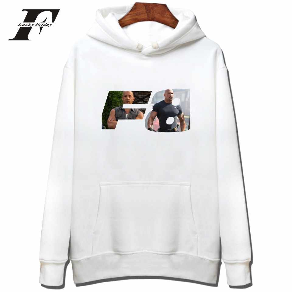 LUCKYFRIDAYF hip hop hoodies The Fate Of The Furious Hoodie men/women Brand Designer Sweatshirt felpe roupas Clothing tracksuit