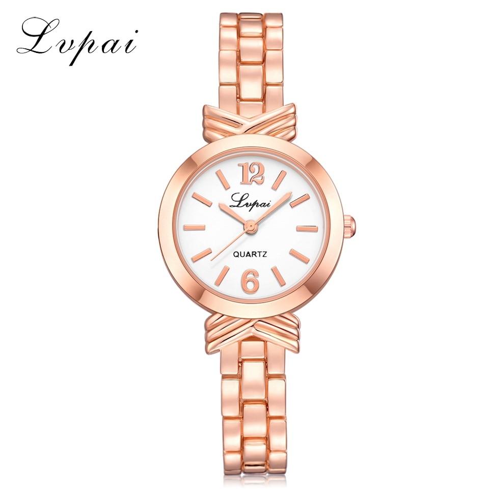 Lvpai Brand Women Fashion Luxury Creative Watch Rose Gold Ladies Wristwatch Bracelet Dress Sport Quartz Watch Dropshiping LP230
