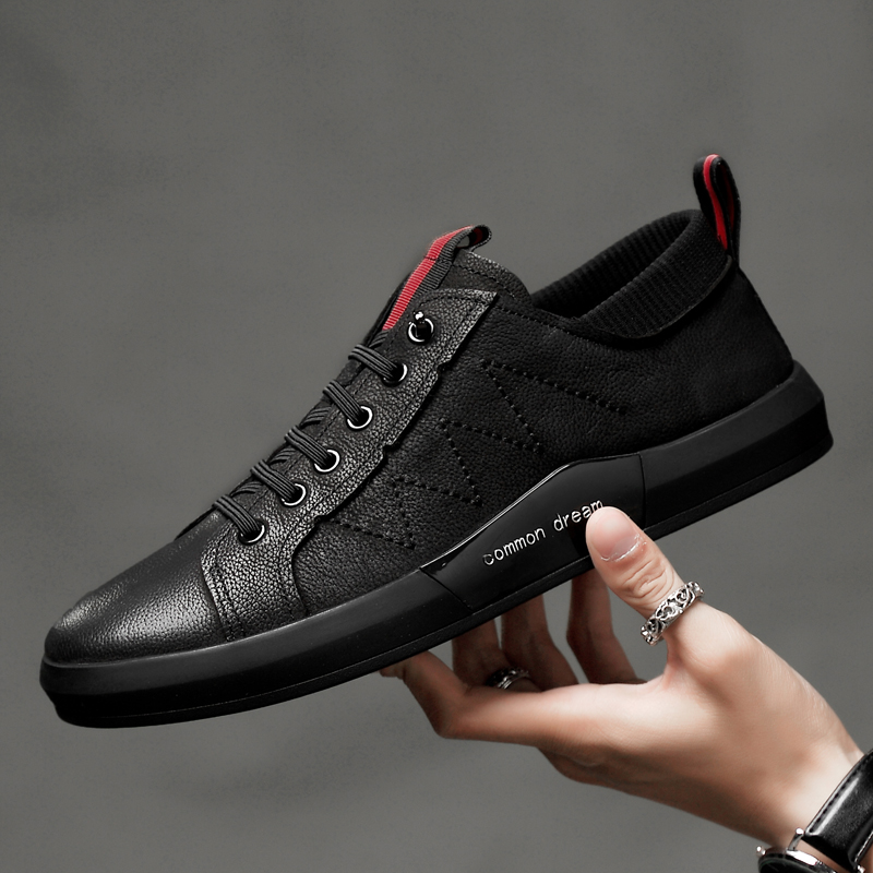 Men Casual Shoes Leather Breathable Holes Luxury Brand Flat Shoes for Men Dropshipping Zapatos De Hombre