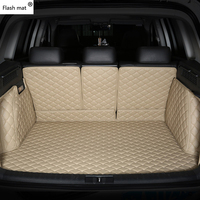 Flash mat leather Car Trunk Mats for Porsche all models 911 panamera cayman cayenne accessories car styling custom cargo liner
