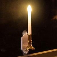 2pcs LED Beam Solar Powered Candle Light Wall Lamp Lantern Garden Courtyard