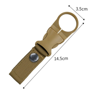Military Multifunctional Buckle Webbing Straps High Strength Nylon Molle Water Bottle Carabiner Belt Hanging Keychain Key Hook