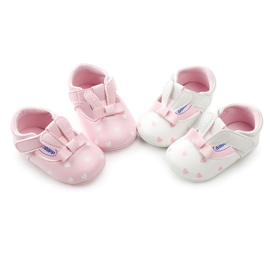 Baby Shores Baby First WalkerBaby Girl Rabbit Ears Fashion Toddler First Walkers Kid Shoes    Uk F26