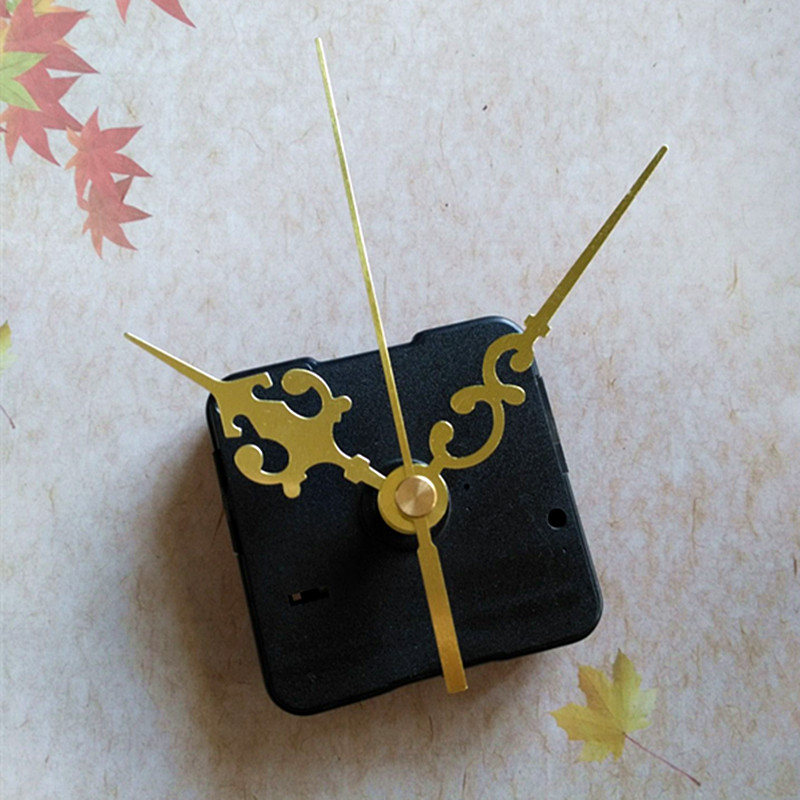 DIY Clock Quartz Movement mechanismand Gold Hands 500pcslot Free Shipping By DHL