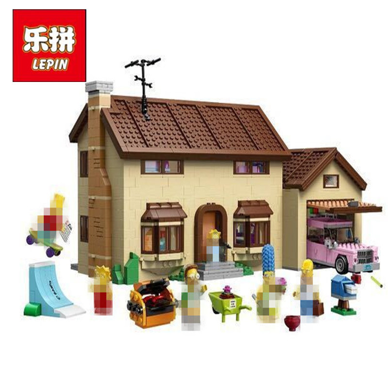 2575Pcs LEPIN 16005 the Simpsons House Simpson's family Kwik-E-Mart Set Model Building Block Bricks Compatible 71006 DIY Gift цена