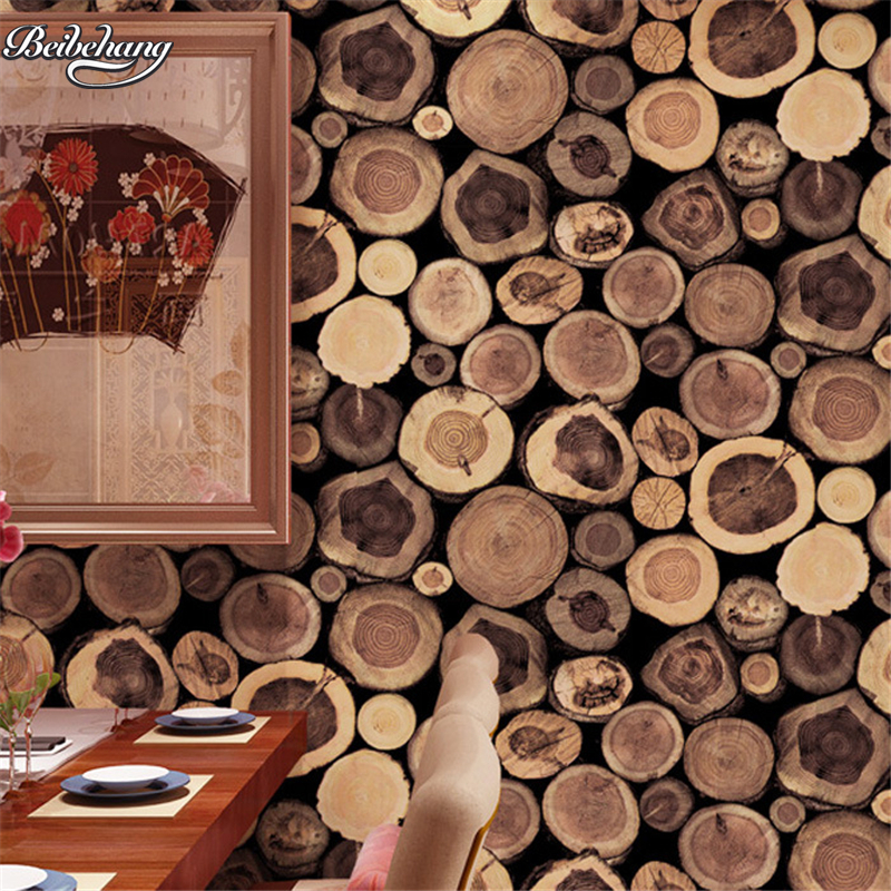 beibehang antique imitation of the original ecological imitation wood bar restaurant ring teapot wallpaper realistic wallpaper купить