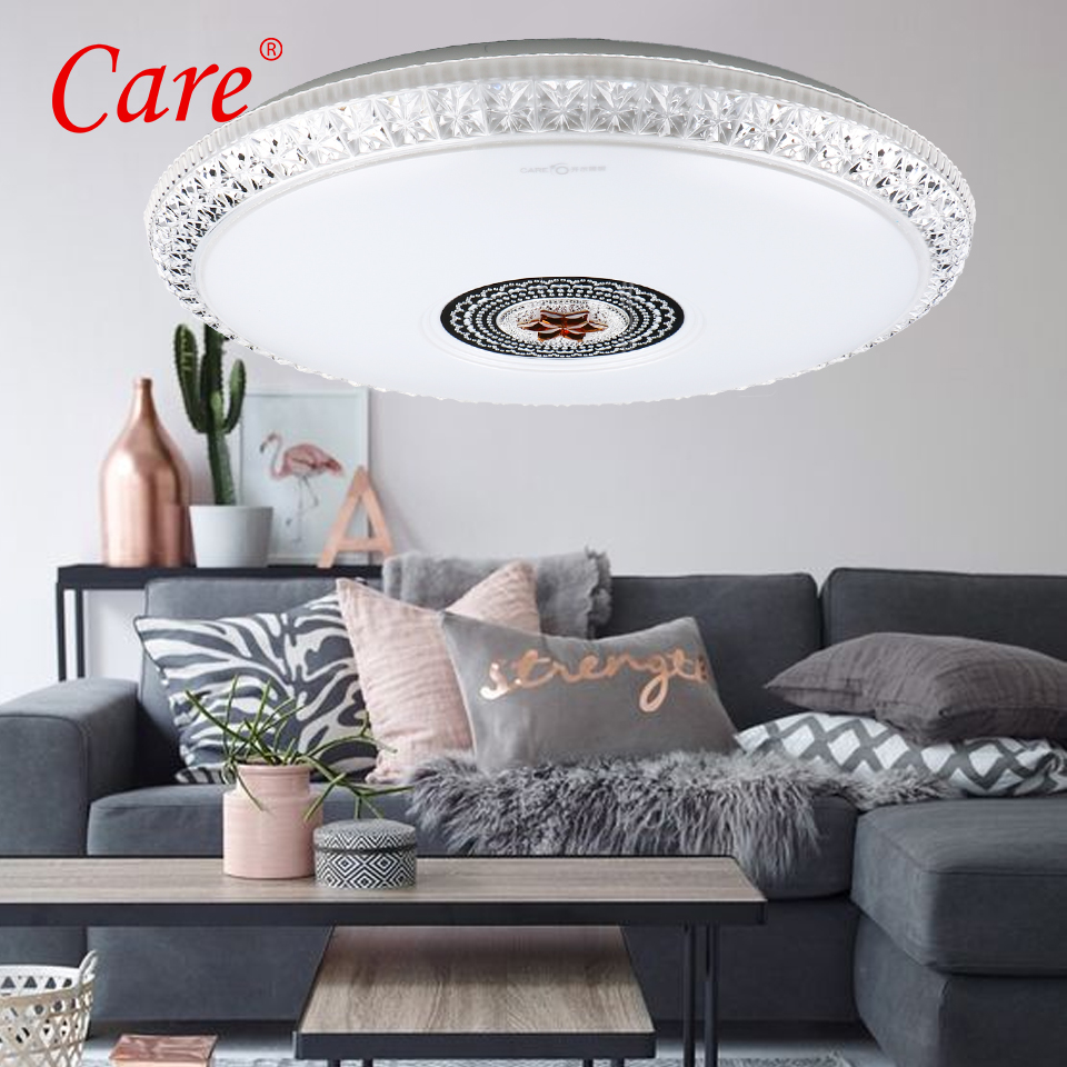 Care Romantic ceiling lamp 24W 36W three-color-dimmable modern lamps ceiling lights AC 220V lamparas de techo for home cd159 36w wjcolor changing pendant lamp ac 220v