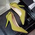 2016 Женщины Боути Лук Сладкий Насосы Ультра Тонкий Хи Сексуальные указал На Высоких Каблуках Стадо Лук Одиночные туфли на Высоком каблуке Женские Туфли G233