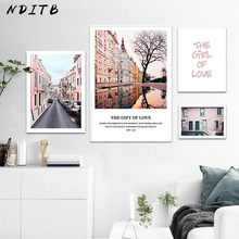NDITB Travel Landscape Canvas Art Poster Nordic Style Print Painting Abstract Wall Picture for Living Room Home Decoration