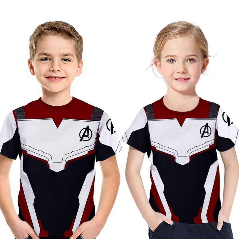 Marvel movie avengers endgame 4 반팔 3d 프린트 t 셔츠 quantum warfare boys/girls 티셔츠 cool shirt kids 2019 summer new