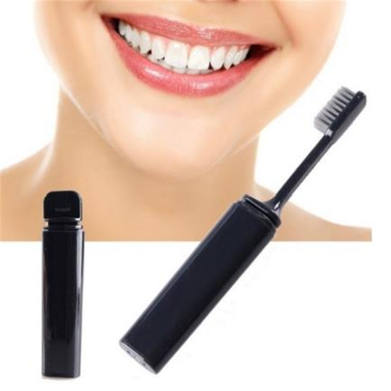 Portable Compact Bamboo Charcoal Toothbrush Folding Fold Travel Camping Hiking Outdoor Easy To Take Foldable Teethbrush image