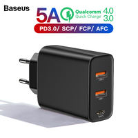 Baseus Quick Charge 4.0 3.0 Multi USB Charger For iPhone Xiaomi Samsung Huawei SCP QC4.0 QC3.0 QC C PD Fast Mobile Phone Charger