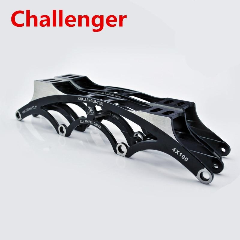 Super Light 7050 Aluminium Alloy CNC Inline Speed Skates Frame with 4X110mm 4X100mm 4X90mm 90mm 100mm