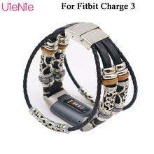 Vintage bracelet For Fitbit Charge 3 frontier/classic replacement for smart watch strap accessories