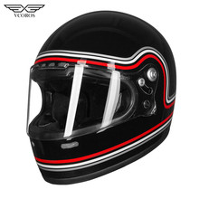 Vcoros Full Face Motocycle Helmet with Anti-Scratch Visor Woman Man Capacete Cas