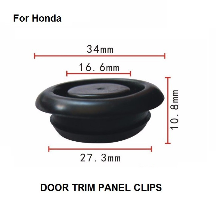 Car Stlying Door Trim Panel Clips x10 Cab soundproof rubber plug For Honda / Nylon Retainer Clip Brand New